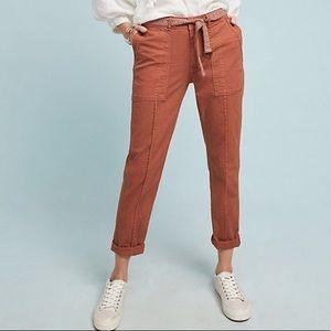 Anthropologie The Wanderer Utility Linen Blend Pants
